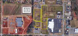Aerail of lots for sale - Plaza Blvd. Madison AL